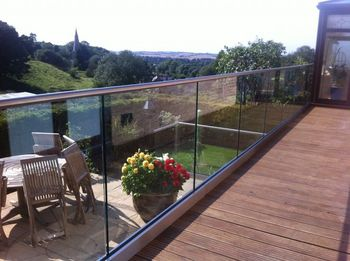 Frameless glass balustrade channel with top cap rail buy frameless glass balustrade channel - Advantage using tempered glass fencing swimming pool balcony deck ...