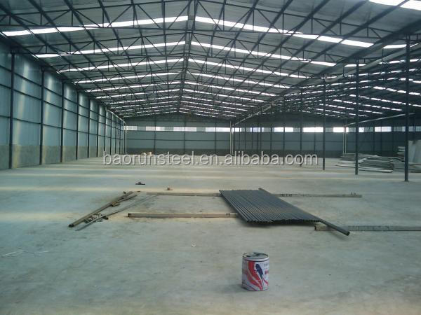 prefabricated construction design light steel structure workshop