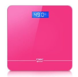 body weight scale with smart phone app LED bluetooth body fat smart scale