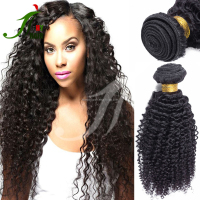 100% Raw Material No Chemical Processed Indian Temple Kinky Curly Virgin Indian Deep Curly Hair