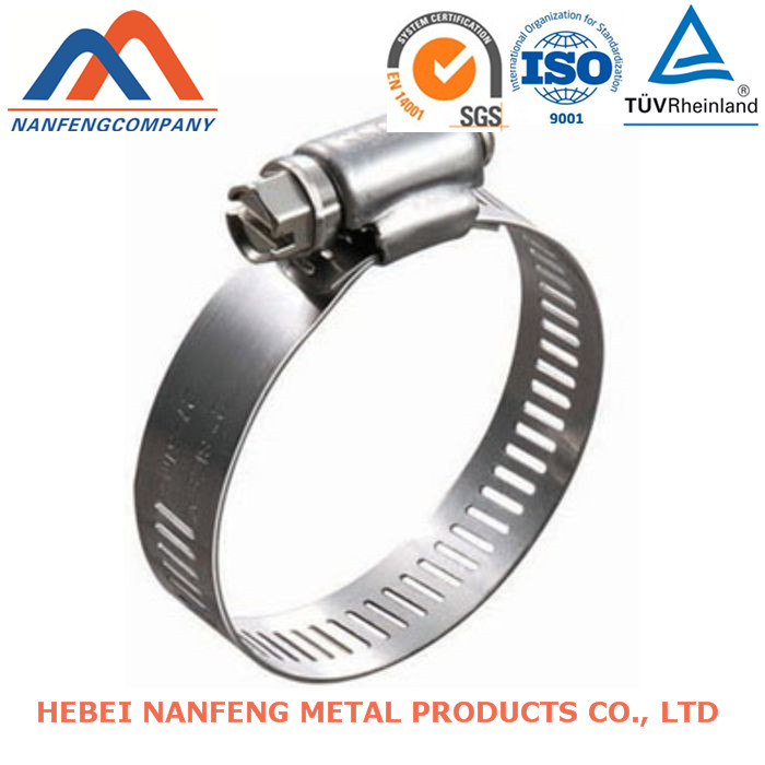 Customized Spring Hose Clamp Stainless Steel Sheet Pressing Spring Hose Clamp