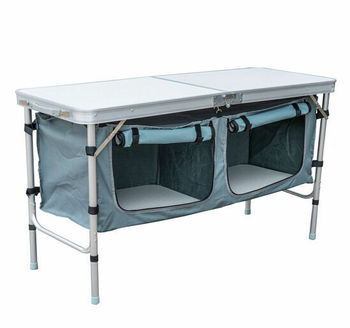 New Portable Aluminum Camping Folding Outdoor Storage Picnic Kitchen Table