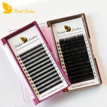 customized packaging popular silk eyelash extensions customized eyelash extensions packaging OEM private label lashes