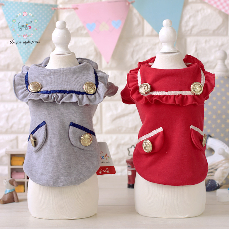 Собака щенок милый стиль платье костюм одежда собака кошка pet юбка принцесса лук кружева летнее Платье собака платье одежда для маленьких собак