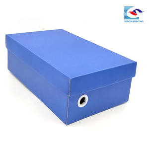 luxury blue logo printed men shoes box packaging wholesale