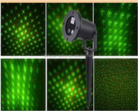 New product 6 in 1 Green & Red Moving Laser Projector Landscape waterproof laser lights Christmas lights for outdoor