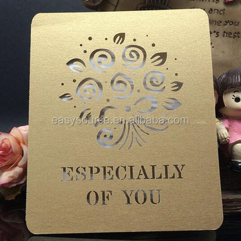 New Design Wedding Invitation Greeting Card Elegant Marriage Paper