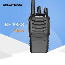 4 Pcs <span class=keywords><strong>Bf</strong></span> 888 S Talkie 5 W Handheld UHF 5 W 400-470 M Hz 16CH Dua Cara Portable radio CB