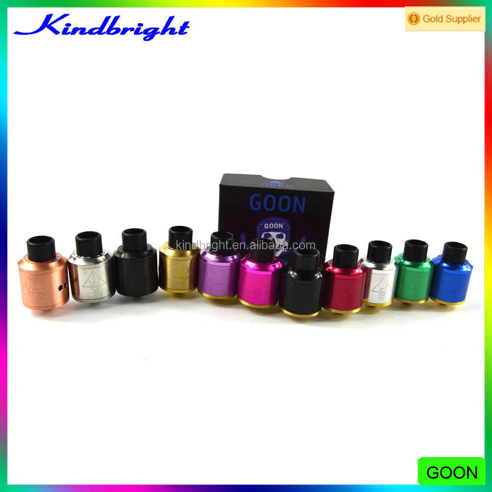 Best Design Ever!!!11 colors Goon 528 RDA Atomizer 1:1 Clone/Doode rda/Hadaly rda Manufactured by Kindbright