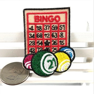 Fashion Number Bingo Game Clothing Jean Iron On Embroidery Patches
