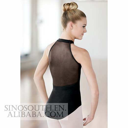 2016 wholesale the new mesh back turtleneck women ballet leotard