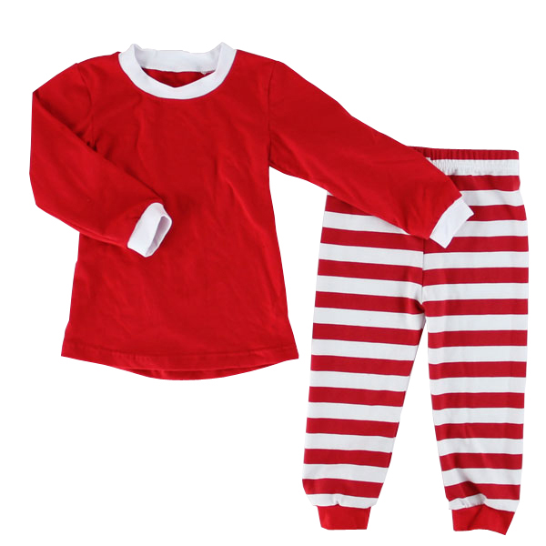 Simple Design Childrens Clothes Ordinary Kids' Outfits Wholesale Child Cotton Sleepwear Pajamas