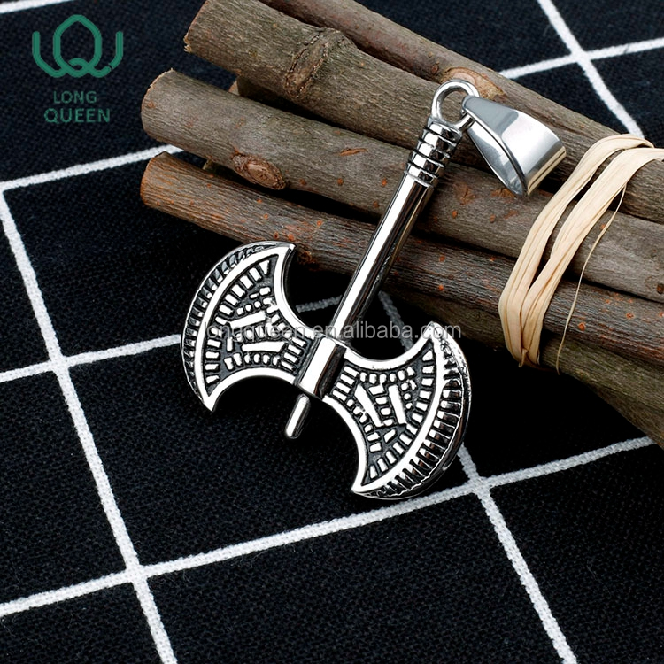 Dongguan factory wholesale stainless steel axe pendant for necklace jewelry