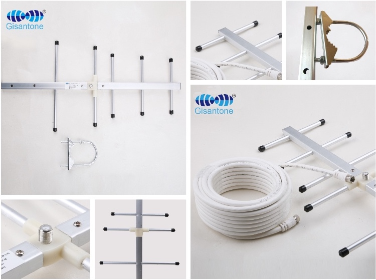 China Outdoor hf vhf uhf dvb-t2 stb tv yagi-antenne