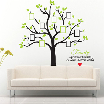 Large Family Tree Photo Frames Wall Decal The Sweetest Highlight