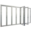 Accordion aluminum glass patio exterior bi-folding doors / folding doors_doors