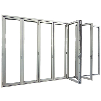 Accordion Aluminum Glass Patio Exterior Bi Folding Doors