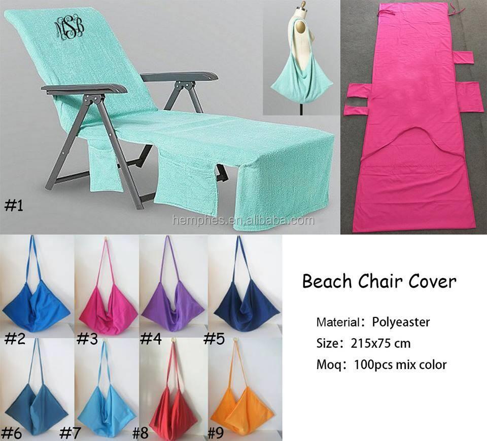 2018 new arrival monogram beach lounge chair cover buy beach chair