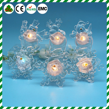 Battery Operated Led Snowflake Lights Window Ers With Colour Changing Leds Christmas Ornament