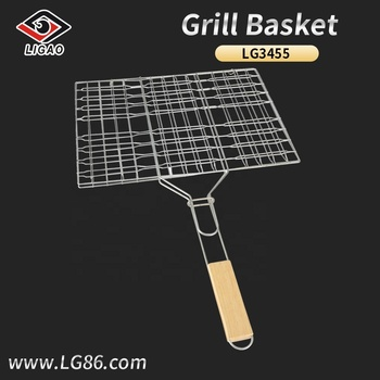 Factory-outlet grill net for beef with slide lock