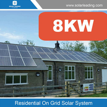 Solar Roof Tiles 8kw Grid Tie Solar Panel Systems For All
