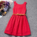 2015 Summer New Children Clothes Girls Beautiful Lace Dress Quality White Baby Girls Dress Kids Princess