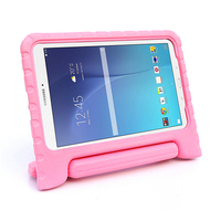 Top selling lowest price kids eva high quality full body protect cover handle stand case for Samsung Galaxy Tab E T560 tablet