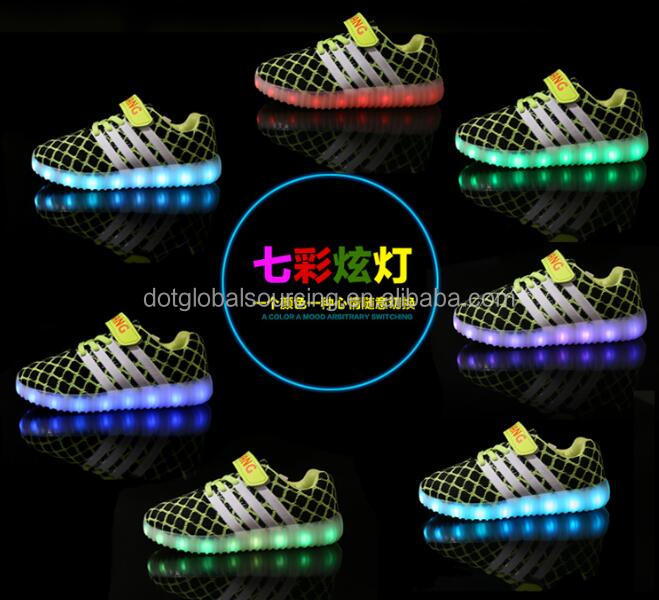 New led shoes children led usb charging running casual children led shoes kids