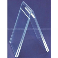 4R Clear PolyStyrene Plastic Double-Sided Table Tent, A Shape Acrylic Frame, Lucite Photo Holder