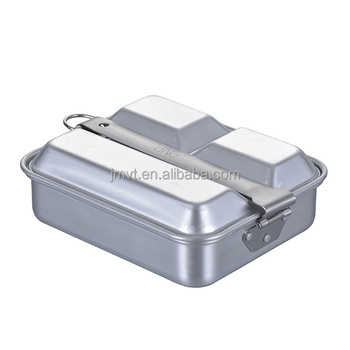 Hot Sales Aluminum Square Lunch Box For Camping