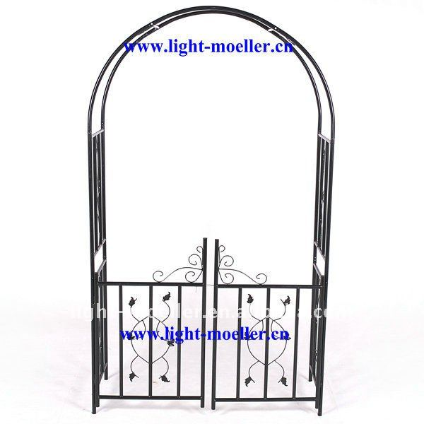 Wrought Iron Garden Arch With Gate Lmgrg-51001