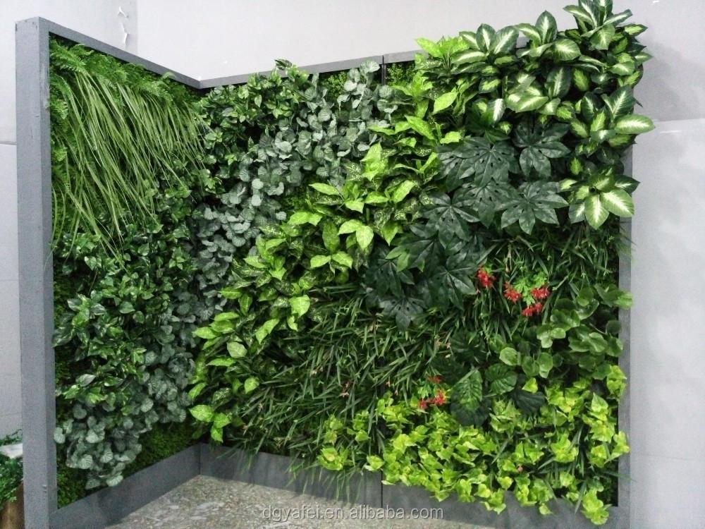 2015 meilleur vente gazon artificiel mur v g tal int rieur d coratif en plastique vert mur. Black Bedroom Furniture Sets. Home Design Ideas