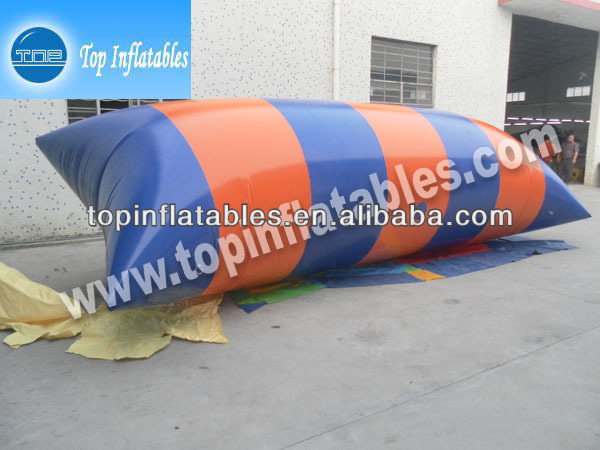TOP Hot sale 0.9mm PVC inflatable water toy bolb launch pad!
