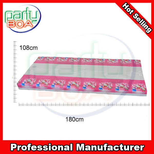 custom plastic tablecloth disposable PE birthday party tablecloth