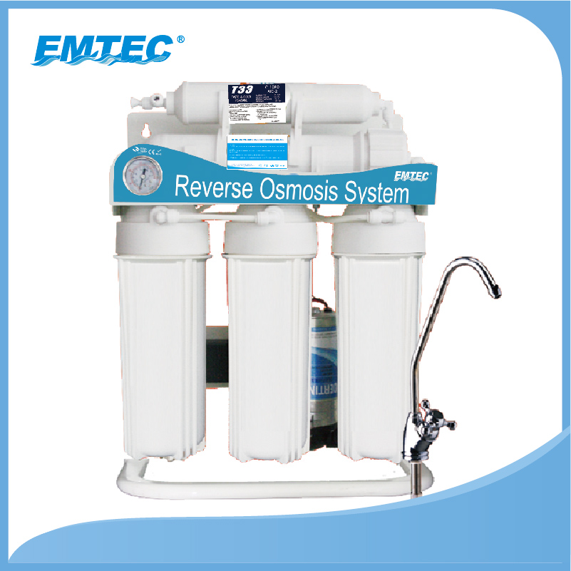 400 GPD STANDING MODEL WITH PRESSURE METER REVERSE OSMOSIS SYSTEM