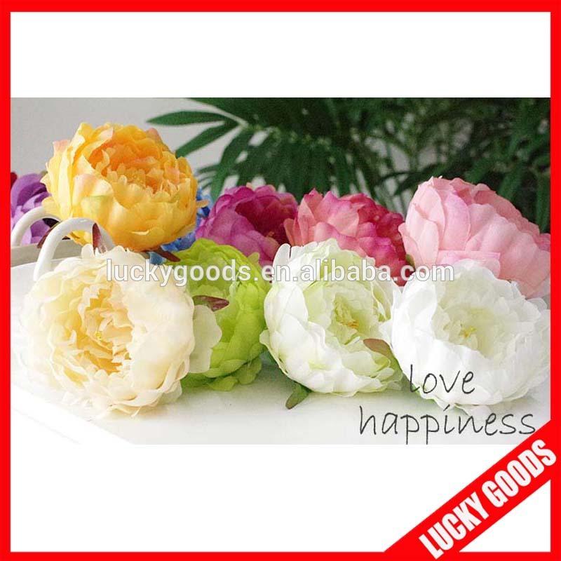Various Color Peony Flower Bloom Bulk Silk Flowers Wholesale Buy