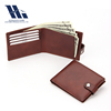 High quality genuine leather men rfid pocket wallet leather