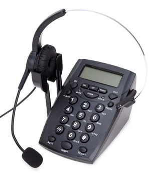 Business service call center landline headset phone hands free