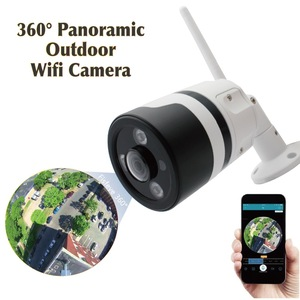 CCTV Security systems camera waterproof Smart Home bullet FishEye Wireless Wifi 360 degree Panoramic IP outdoor Camera