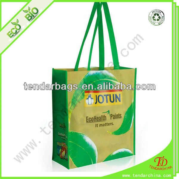 Laminated Compact Reusable Shopping Bag For Shopping Cheap Non Woven Custom Bag With Logo