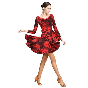 Ballroom Latin Competition Dress Cha cha Rumba Tango Latin Dance Dress