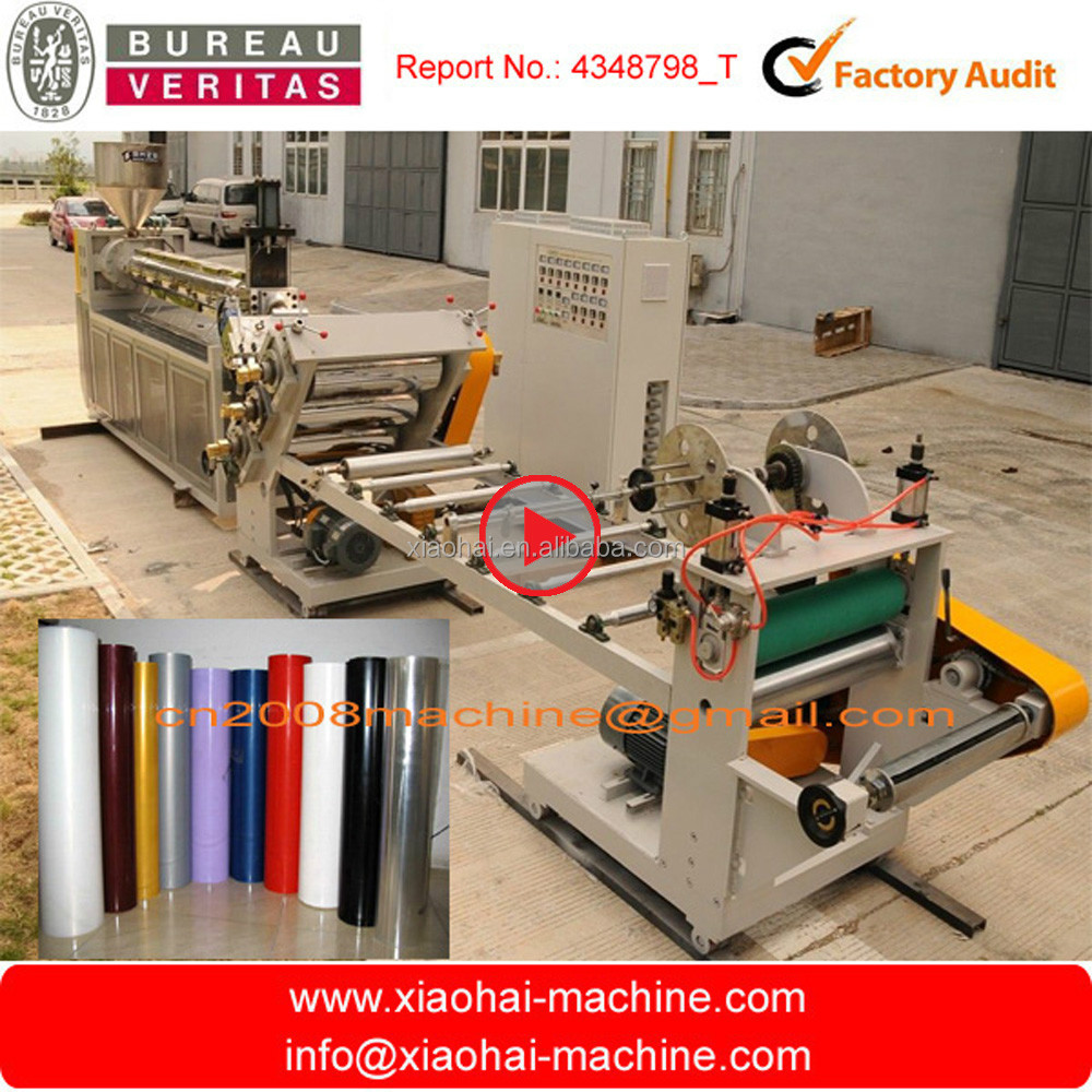 HAS VIDEO PET PP PS Plastic Single Screw Sheet Extruder For Plastic Cup And Cup Lid And all kinds of Plastic Cover