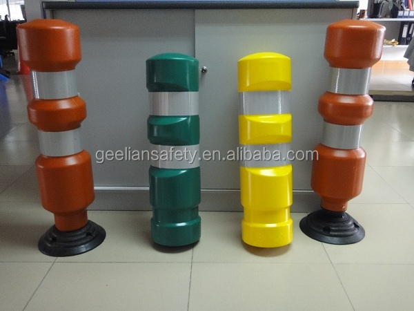 Traffic barrier flexible spring delineator post road divider delineators warning post column bollard delineator post