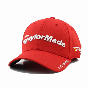 Wholesale Flexfit Riding Caps 3d Embroidery Red Baseball Cap Button On Top