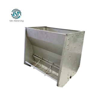 Pig Equipment Stainless Steel Double Sided Best Quality Automatic Pig Feeding Trough