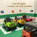 1 64 wrangler Alloy car model metallic material Pull Back 4 different colors kids toys Children