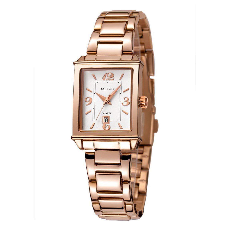 0e2d7e94d88 Get Quotations · Tayhot Womens Rectangle Rose Gold Watch
