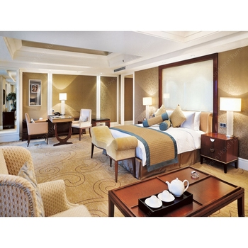 Shanghai Sofitel Hotel Project Modern Guest Room Furniture Sets 5 Star For Sale