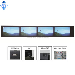 hot sale sync play combined video ultra wide lcd clip multi screen for shelf of shop