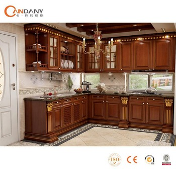Good Quality Kitchen Cabinet With Acrylic Door Panelcarved Wood